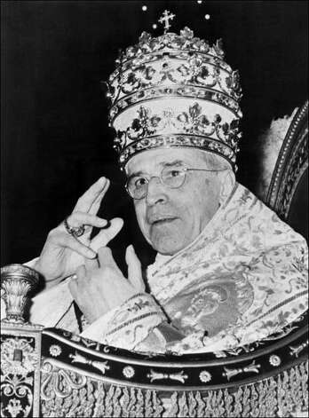 Pius XII Elected March 2, 1939. Dow Closed down 0.19 points to 146.96. Photo: -, AFP/Getty Images / AFP