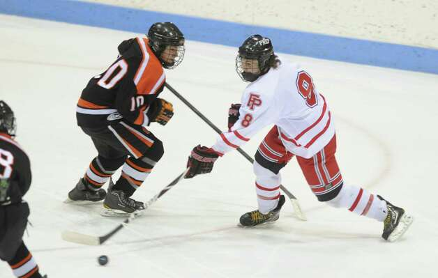 Fairfield Prep takes on Ridgefield during the boys hockey State Tournament Class I Semifinals Wednesday, Mar. 13, 2013 at Ingalls Rink in New Haven, Conn. Photo: Autumn Driscoll / Connecticut Post