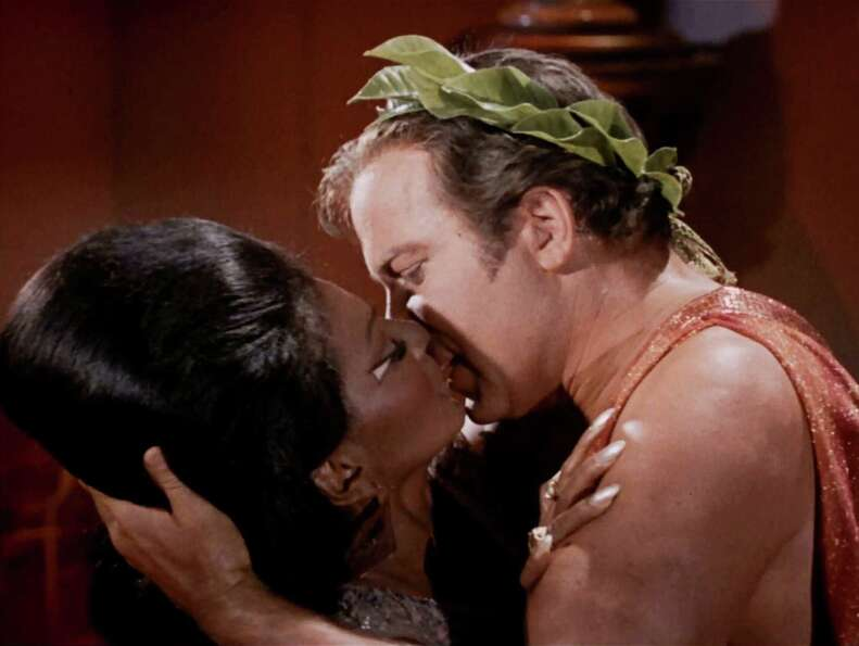 And there it is - the nation's first nationally televised interracial kiss.