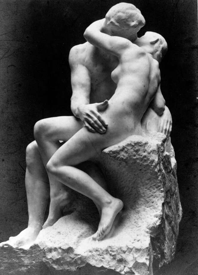 "A good historical kiss to start with, fiction or otherwise, is Rodin's sculpture ""The Kiss."" Photo: Hulton Archive, Getty / Hulton Archive"