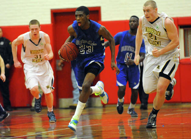 Class L boys basketball semifinal action between Bunnell and Woodstock Academy in Norwich, Conn. on Wednesday March 13, 2013. Photo: Christian Abraham / Connecticut Post