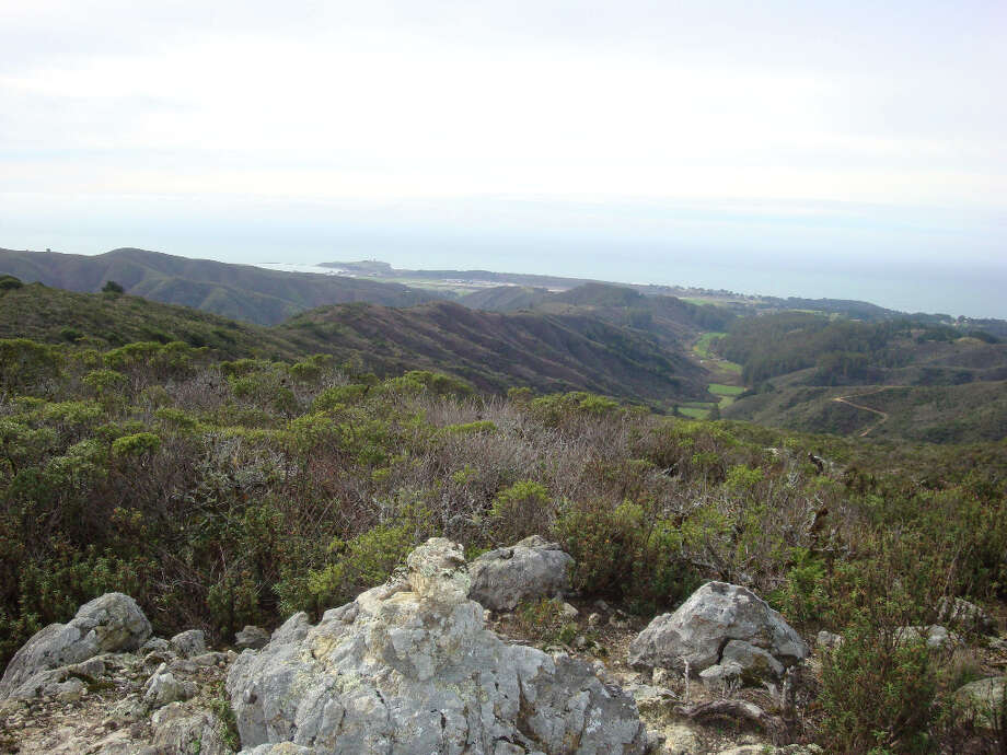 From sub-ridge of Montara Mountain, you can see across hidden valleys to local coast