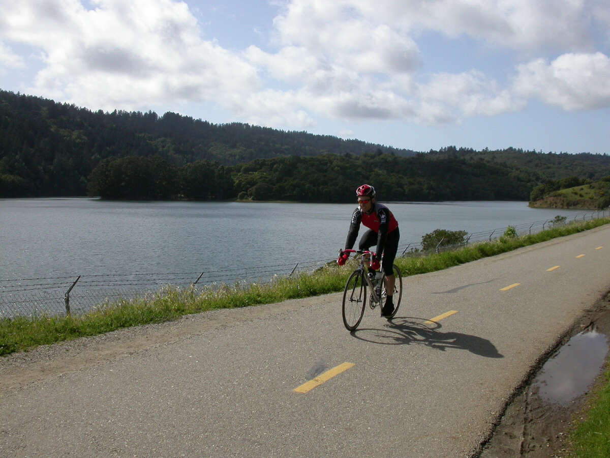 Crystal Springs Trail, San Bruno to Woodside:  Sawyer Camp Trail along Crystal Springs is one of the best bike routes around.
