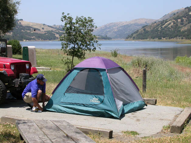Coyote Reservoir is one of handful of parks with water-view campsites