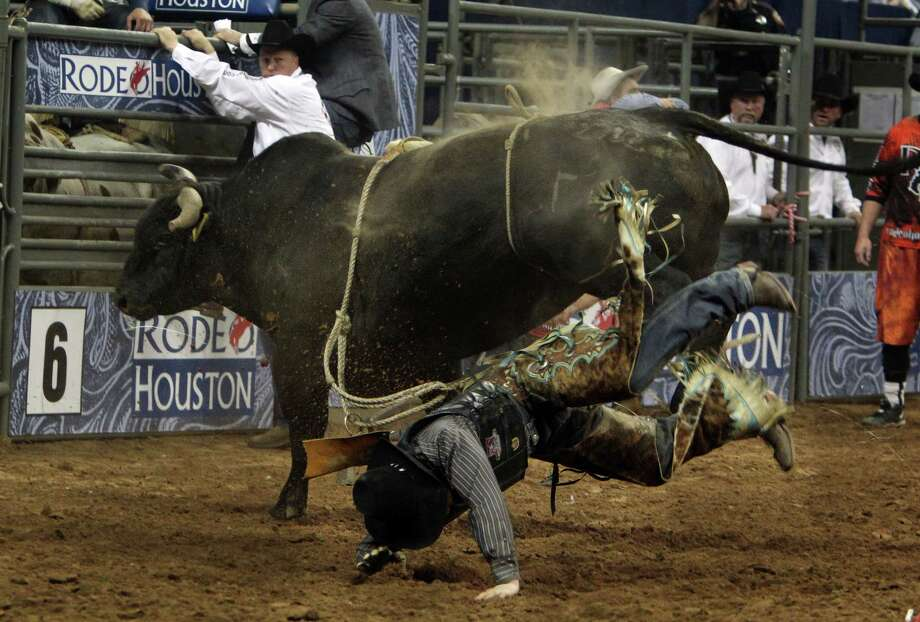 Ty Clearwater competes in Bull Riding during the BP Super Series Semifinals 1 at Reliant Stadium on Wednesday, March 13, 2013, in Houston. Photo: Mayra Beltran, Houston Chronicle / © 2013 Houston Chronicle