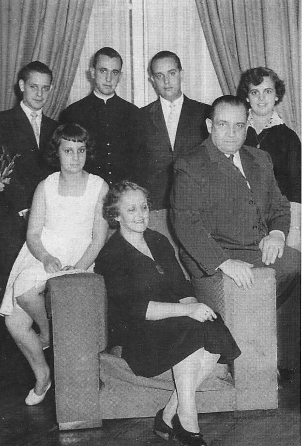 In this undated picture released by journalist Sergio Rubin, Cardinal Jorge Mario Bergoglio, Archbishop of Buenos Aires, second from left in back row, poses for a picture with his family in an unknown location. Bergoglio, who took the name of Pope Francis, was elected on Wednesday, March 13, 2013, the 266th pontiff of the Roman Catholic Church. Top row from left to right, his brother Alberto Horacio, Bergoglio, his brother Oscar Adrian and his sister Marta Regina. Bottom row from left to right, his sister Maria Elena, his mother Regina Maria Sivori and his father Mario Jose Bergoglio. Photo: Associated Press