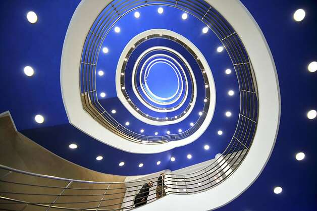 People use the spiral staircase at the Bavarian State Ministry for Economic Affaires, in Munich, southern Germany, Wednesday March 13, 2013. (AP Photo/dpa, Frank Leonhardt) Photo: Frank Leonhardt, Associated Press