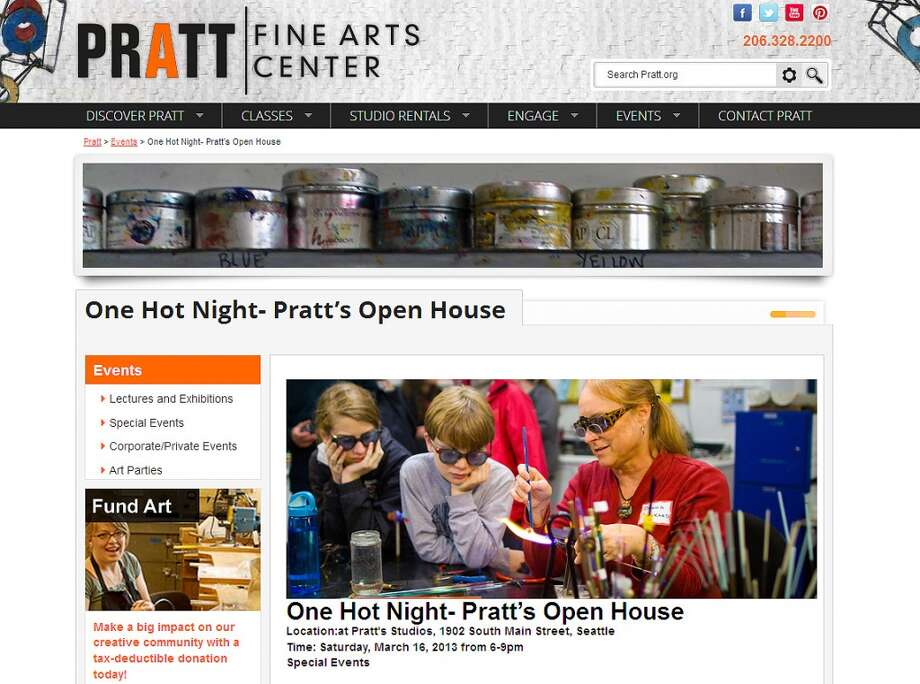 Check out the Pratt Fine Arts Center open house Saturday, March 16, from 6 to 9 p.m. Staff promises artist demonstrations, kids' activities and information about Pratt''s unique classes. Demonstrations include glass blowing, stone carving and steel forging.