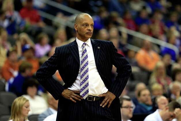 KANSAS CITY, MO - MARCH 13:  Head coach Trent Johnson of the TCU Horned Frogs watches from the bench during the first round of the 2013 Big 12 Men's Basketball Championship against the Texas Longhorns at Sprint Center on March 13, 2013 in Kansas City, Missouri. Photo: Jamie Squire, Getty Images / 2013 Getty Images