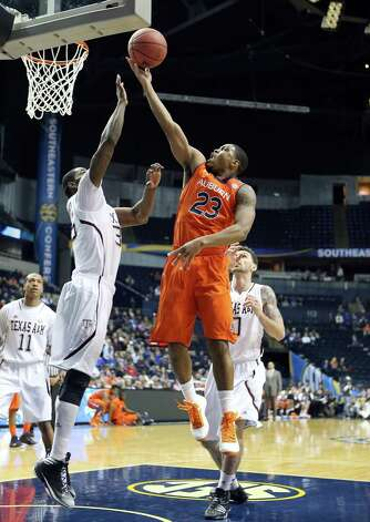 NASHVILLE, TN - MARCH 13: Frankie Sullivan #23 of the Auburn Tigers shoots the ball against the Texas A&M Aggies during the first round game of the Southeastern Conference Tournament at Bridgestone Arena on March 13, 2013 in Nashville, Tennessee. Photo: Andy Lyons, Getty Images / 2013 Getty Images