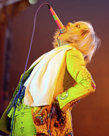 Yeah Yeah Yeahs' Karen O performs with the group at Stubb's during South by Southwest Wednesday March 13, 2013 in Austin, TX. Photo: Edward A. Ornelas, Edward A. Ornelas/Express-News / © 2013 San Antonio Express-News