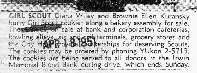 An article from the 1951 Chronicle about the Girl Scout Cookie sales. Photo: Chronicle Archives / ONLINE_YES