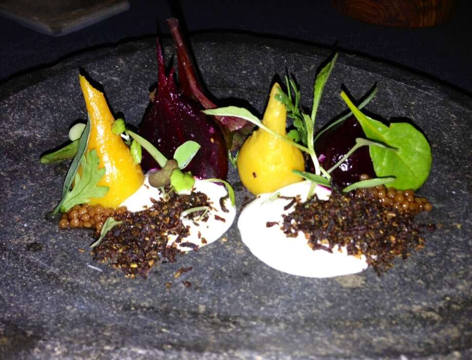 Roasted beets with vadouvan spices