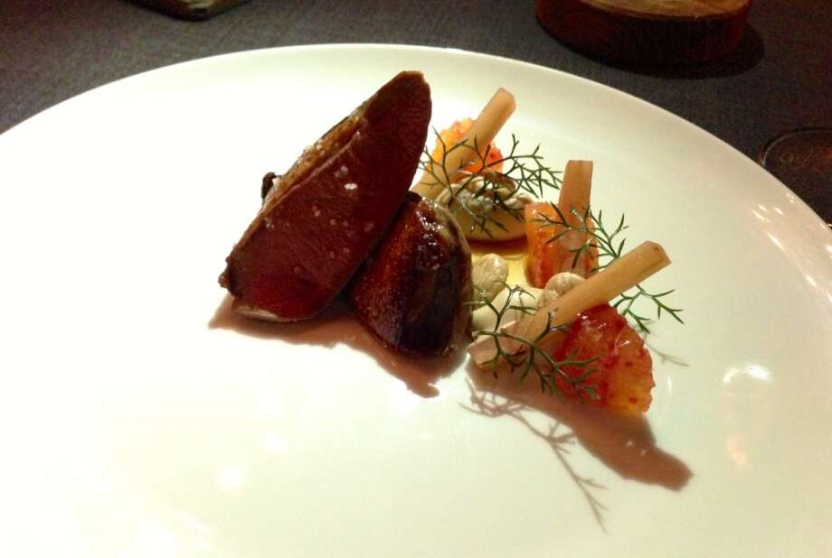 Squab with blood orange and Marcona almonds