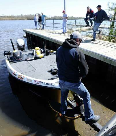 David Walker loads his boat after some practice for the B.A.S.S. Bassmasters 2013 Elite Series Sabine River Challenge which begins on Thursday, March 14, 2013 at the City of Orange Boat Dock. Photo taken: Randy Edwards/The Enterprise Photo: Randy Edwards