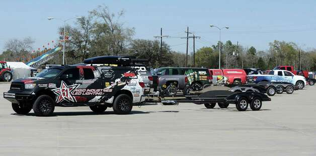 Anglers begin to head to the dock after some practice for the B.A.S.S. Bassmasters 2013 Elite Series Sabine River Challenge which begins on Thursday, March 14, 2013 at the City of Orange Boat Dock. Photo taken: Randy Edwards/The Enterprise Photo: Randy Edwards