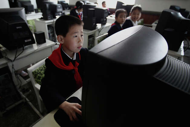 North Korean children learn to use the computer in a primary school on April 2, 2011 in Pyongyang, North Korea. Pyongyang is the capital city of North Korea and the population is about 2,500,000. Photo: Feng Li, Getty Images / 2011 Getty Images
