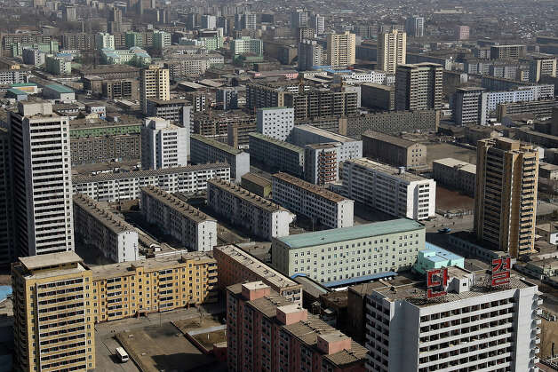 A general view of downtown on April 3, 2011 in Pyongyang, North Korea. Pyongyang is the capital city of North Korea and the population is about 2,500,000. Photo: Feng Li, Getty Images / 2011 Getty Images