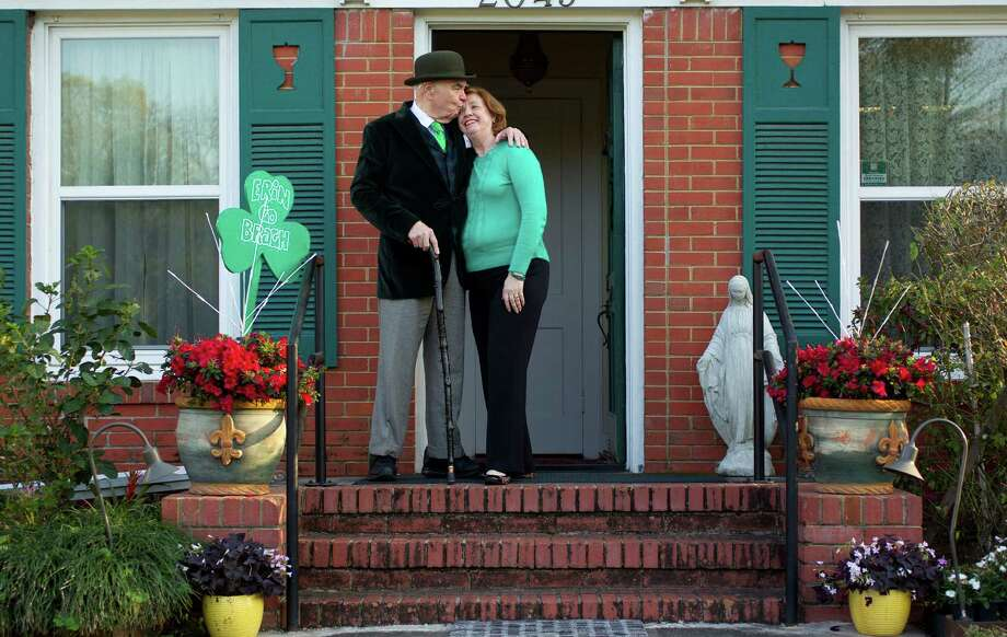 Former restaurateur and PR extraordinaire who capitalized on being Irish, Tom Horan, 68,  poses for a portrait with his wife Jeani. Photo: Johnny Hanson, Houston Chronicle / © 2013  Houston Chronicle