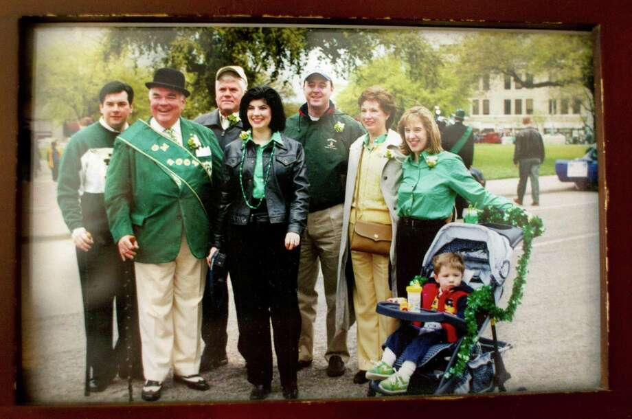 Provided photo of Tom Horan, with family before a St. Patrick's Day parade in Houston.  Photo: Johnny Hanson, Houston Chronicle / © 2013  Houston Chronicle