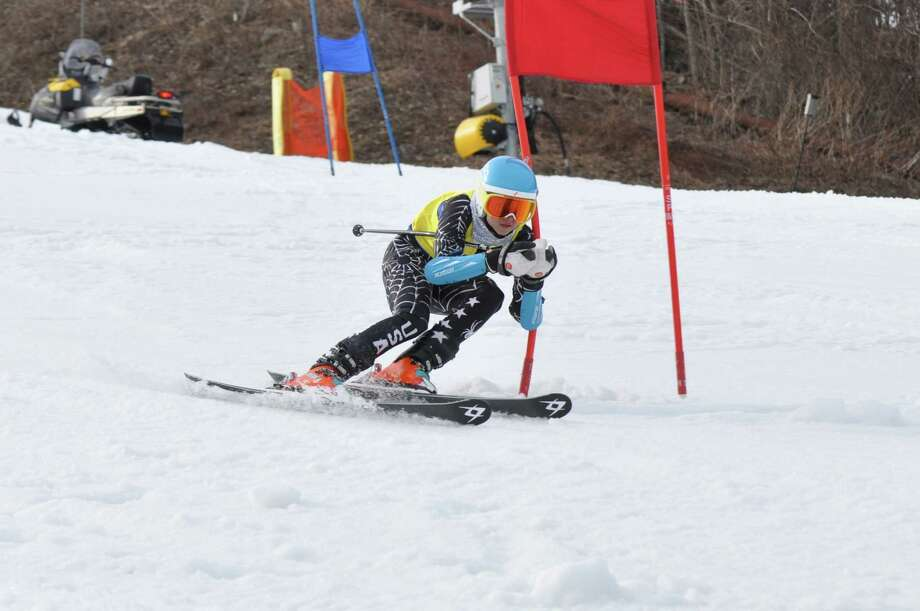 Staples High sophomore Jacqueline Chappo competes in the girls skiing State Open on Monday at Mount Southington. Chappo finished in a tie for seventh in 47.25. Photo: Contributed Photo