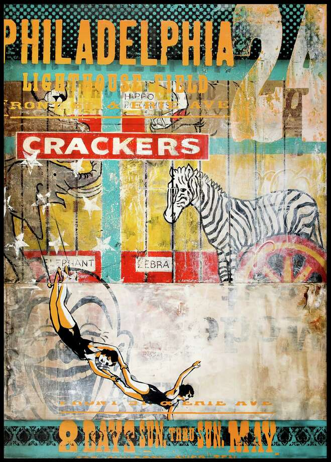 """Ray Phillips' """"Circus Crackers,"""" left, and """"007,"""" below, are among the works on view at Laura Rathe Fine Art beginning Saturday. Photo: Laura Rathe Fine Art"""