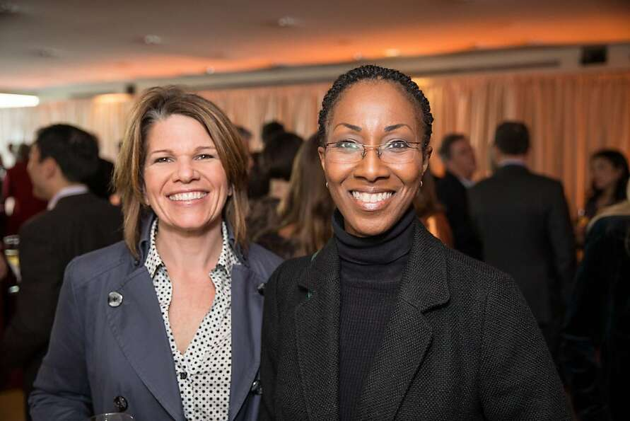 Jackie Duda and Deborah Townes at EWG's 4th annual Earth Dinner on March 13, 2013.