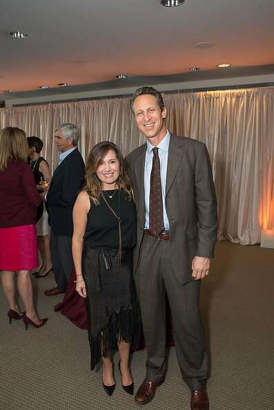 Ingrid Carney and Mark Hyman at EWG's 4th annual Earth Dinner on March 13, 2013.
