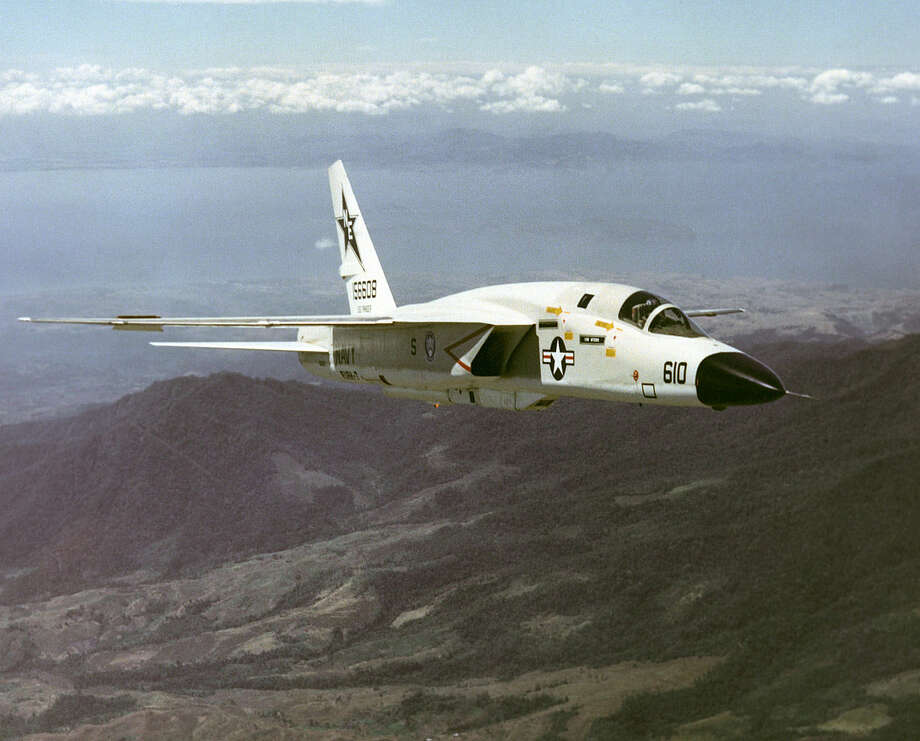 The North American A3J-1 Vigilante attack bomber was one of the largest and heaviest aircraft ever accepted for service aboard U.S. Navy carriers. It entered service in 1961, then was redesignated the A-5 and fully deployed by August 1962. But changing defense strategies moved focus away from carrier-based, heavy attack squadrons. So, in 1964, all the Vigilantes were reconfigured as reconnaissance aircraft and designated RA-5C. Modifications included mounting reconnaissance gear in what had been the bomb bay and fitting the jet to carry four external fuel tanks. Photo: U.S. Navy