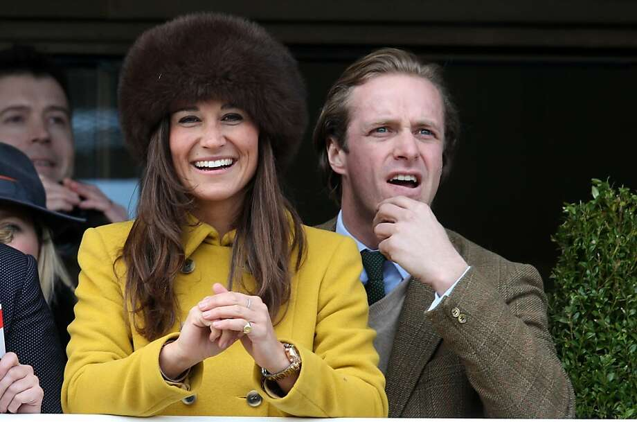 "While sister Kate gets the headlines - being pregnant and all, Pippa Middleton has been busy following the horses at England's Cheltenham Festival. Here she accessorizes with a hat right out ""Dr. Zhivago"" and a tweedy escort. Photo: Matt Cardy, Getty Images"