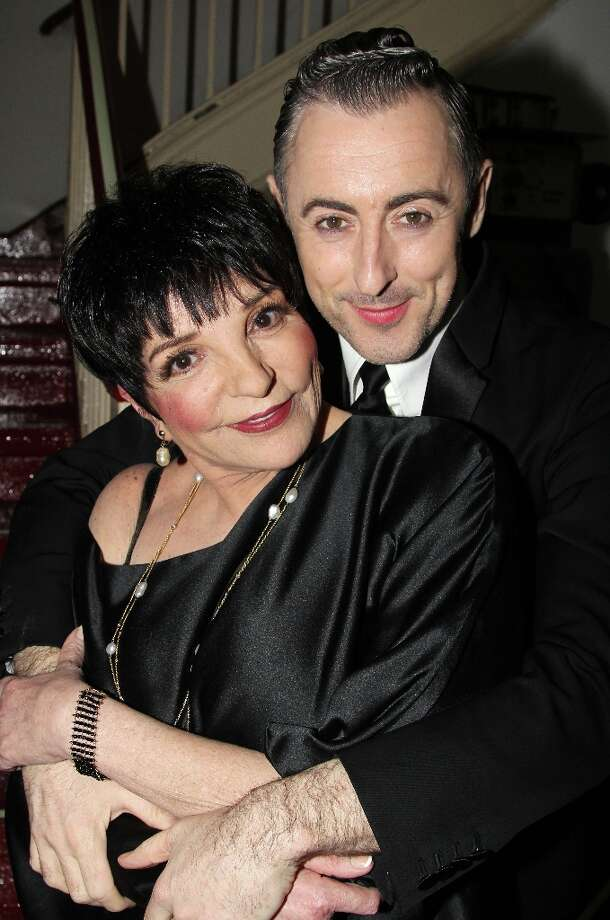 Liza Minnelli and Alan Cumming pose backstage at Liza And Alan: One Night Only In Concert at Town Hall on March 13, 2013 in New York City. Photo: Bruce Glikas, FilmMagic / 2013 Bruce Glikas