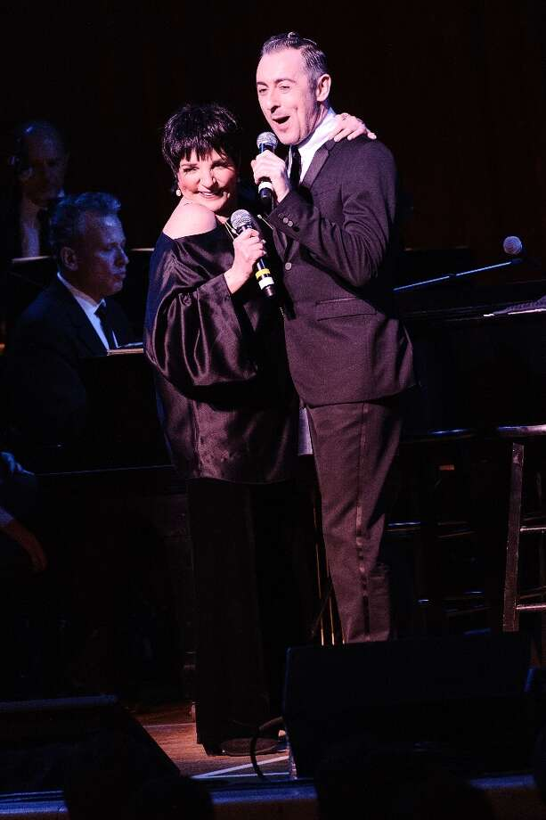 Liza Minnelli (L) and Alan Cumming perform at Town Hall on March 13, 2013 in New York City. Photo: Matthew Eisman, WireImage / 2013 Matthew Eisman