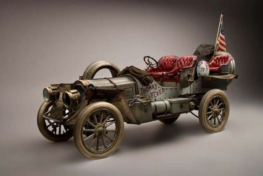 The late casino mogul William F. Harrah was the ultimate Car Guy and so it was no surprise that he should buy and maintain a collection of about 1,400 classic and antique cars. Some of them can be found today at the National Automobile Museum in Reno. Here is a 1907 Thomas Flyer.