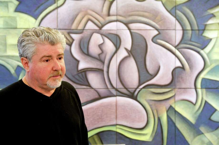 Paul Larson talks about the possibility that he will lose his studio space as he stands in his studio at the Loft Artists Association in Stamford, Conn., on Thursday, March 14, 2013. Photo: Lindsay Perry / Stamford Advocate