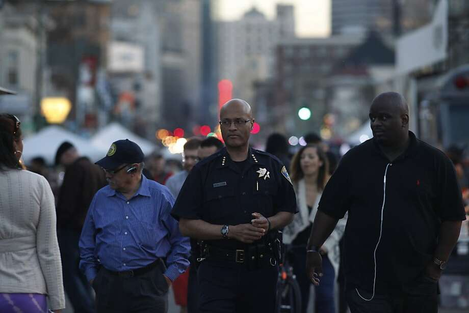 Police Chief Howard Jordan, walking through the First Friday event March 1, says the raids are part of a concerted effort to stop gangs. Photo: Lacy Atkins, The Chronicle