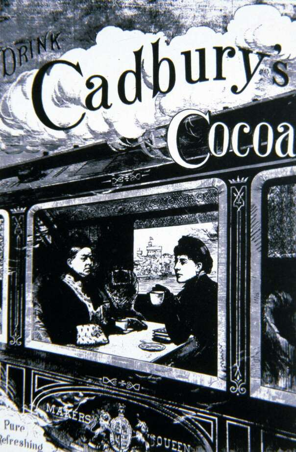 An 1850 English advertising poster for Cadbury's cocoa. Photo: Pierre Jahan, / / Pierre Jahan/Roger Viollet