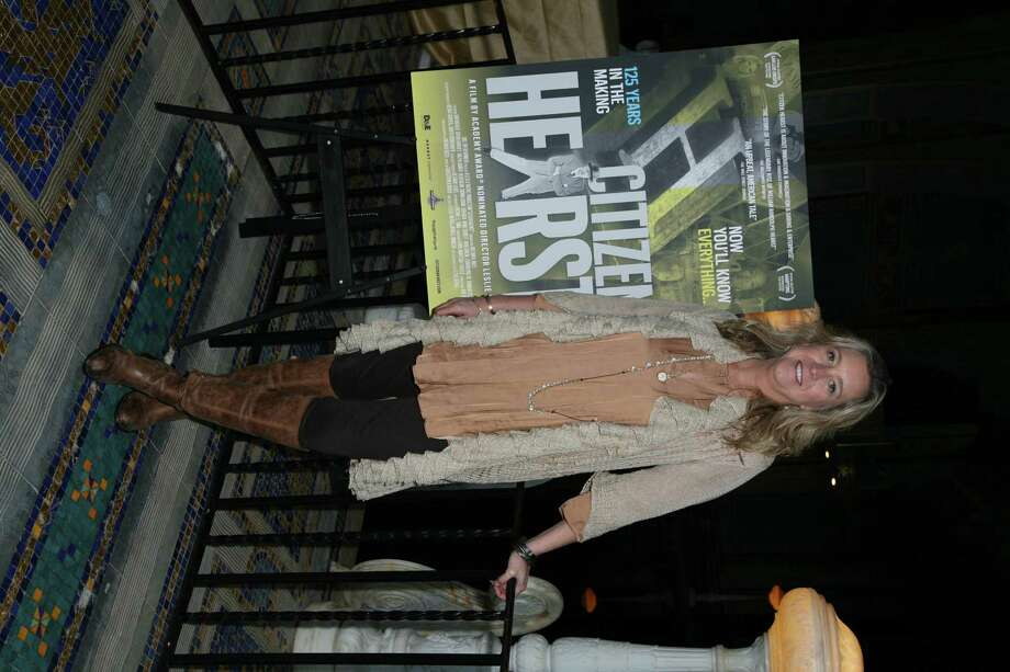 """Leslie Iwerks at the Hearst Castle earlier this month in San Simeon, Calif., for a screening of """"Citizen Hearst"""" (Courtesy Citizen Hearst)"""