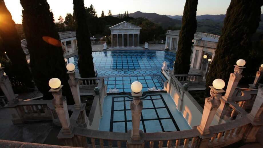 "The Neptune Pool at the Hearst Castle in San Simeon, Calif., is shown in this still from the documentary ""Citizen Hearst"" (Courtesy Citizen Hearst)"