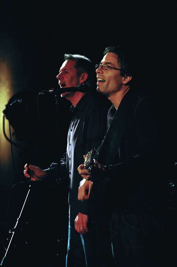 Sound of Silence: AJ Swearingen and Jonathan Beedle present their Simon and Garfunkel Retrospective at the Downtown Cabaret Theatre in Bridgeport on Friday, March 22 at 7:30 p.m. and Saturday, March 23 at 5:30 p.m. Photo: Contributed Photo