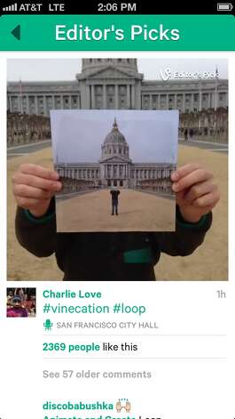 Screengrab of a clip from Vine, a mobile service that lets you shoot and share six-second looping videos. Photo: Screengrab