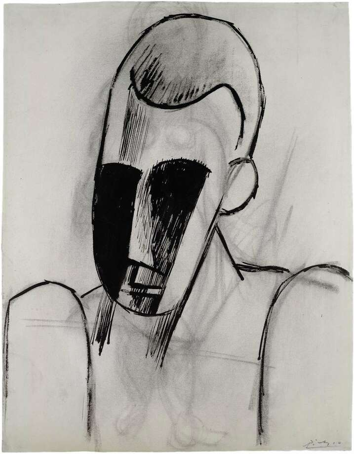 Pablo Picasso, Head of a Man, 1908, ink and charcoal on paper, Private Collection.  2013 Estate of Pablo Picasso / Artists Rights Society (ARS), New York Photo:  2013 Estate Of Pablo Picasso