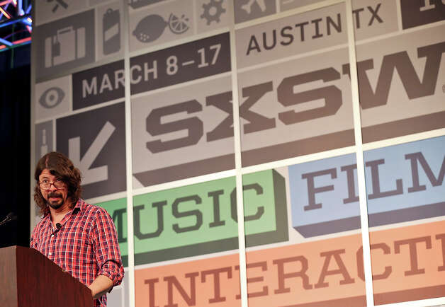 Dave Grohl speaks at the Austin Convention Center during South by Southwest Thursday March 14, 2013 in Austin, TX. Photo: Edward A. Ornelas, San Antonio Express-News / © 2013 San Antonio Express-News