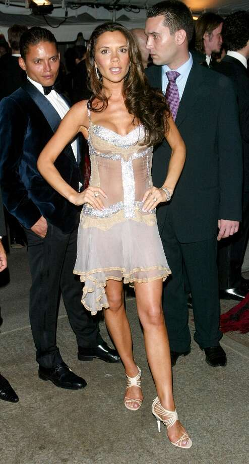 Victoria Beckham attends the Metropolitan Museum Of Art Costume Institute Benefit Gala: Goddess at The Metropolitan Museum of Art April 28, 2003 in New York City. Photo: Evan Agostini, Getty Images / 2003 Getty Images