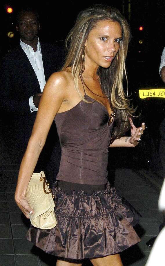 Victoria Beckham during Victoria Beckham and Roberto Cavalli Leave Cipriani - July 16, 2005 at Cipriani in London, United Kingdom. Photo: Niki Nikolova, FilmMagic / FilmMagic