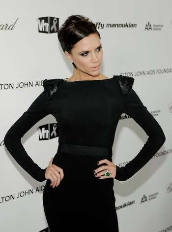 Victoria Beckham arrives at the 17th Annual Elton John AIDS Foundation Oscar party held at the Pacific Design Center on February 22, 2009 in West Hollywood, California. Photo: Larry Busacca / 2009 Getty Images
