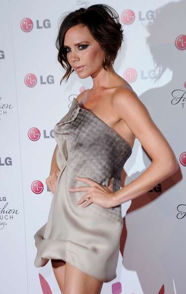 Singer Victoria Beckham arrives at Victoria Beckham And Eva Longoria Parker Host New LG Phones Launc