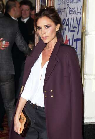 Victoria Beckham attends the press night of 'Viva Forever', a musical based on the music of The Spice Girls at Piccadilly Theatre on December 11, 2012 in London, England. Photo: Mike Marsland, WireImage / 2012 Mike Marsland
