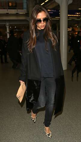 Victoria Beckham seen arriving at King's Cross St Pancras Eurostar terminal on February 25, 2013 in London, England. Photo: Neil Mockford, FilmMagic / 2013 FilmMagic