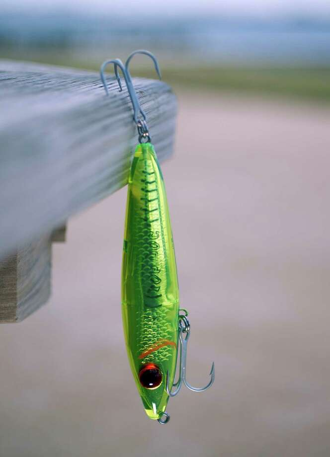 A 94MR MirrOlure Top Dog lure. Photo: James Nielsen, Staff / © 2013  Houston Chronicle