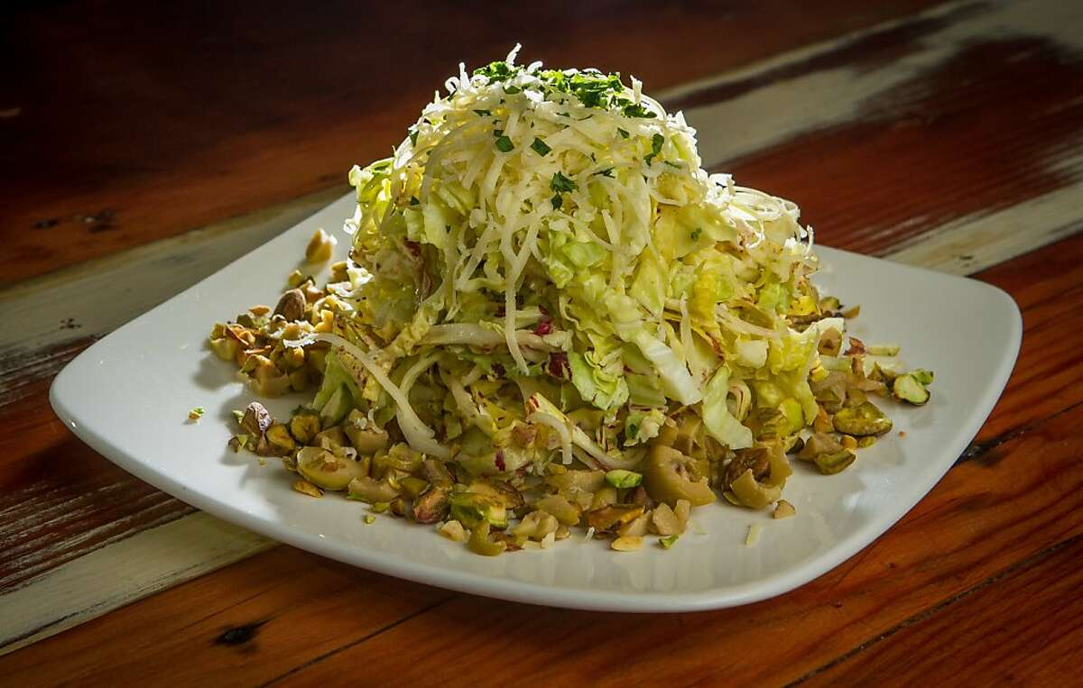 The Savoy Cabbage salad at Duende restaurant in Oakland, Calif., is seen on Thursday, March 7th, 2013.